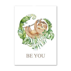 Chill Sloth Poster - Sloth Gift shop