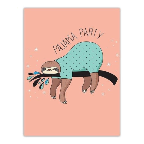 Pajama Sloth Party Poster