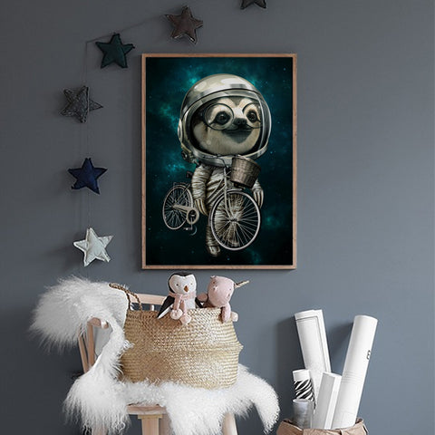 Image of Biker Sloth Poster