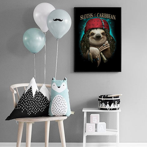 Image of Sloth of the Caribbean Poster - Sloth Gift shop