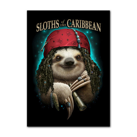 Sloth of the Caribbean Poster - Sloth Gift shop