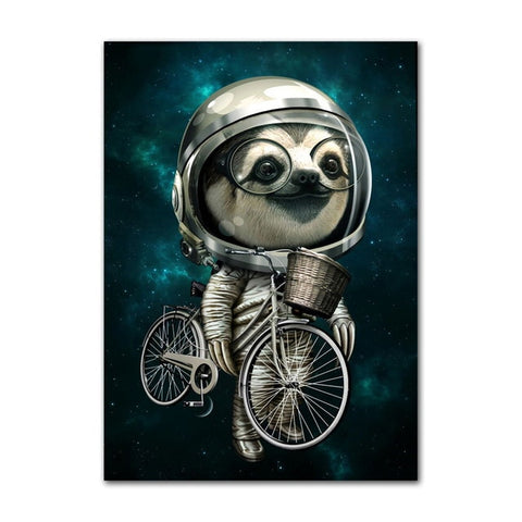 Image of Biker Sloth Poster - Sloth Gift shop