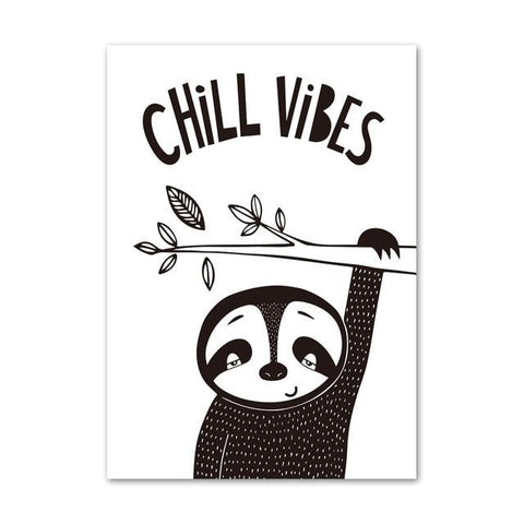 Chill Sloth Vibes Poster - Sloth Gift shop