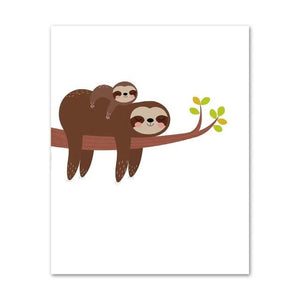 Motherly Sloth Cuddle Poster - Sloth Gift shop