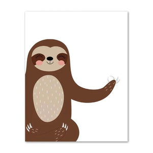 For You Leafy Sloth Poster - Sloth Gift shop