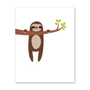 Hanging Sloth Poster - Sloth Gift shop
