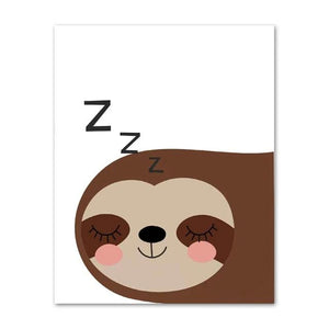 Zzz Sloth Poster - Sloth Gift shop