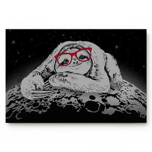 Moon Lazy Sloth Door Mat - Sloth Gift shop