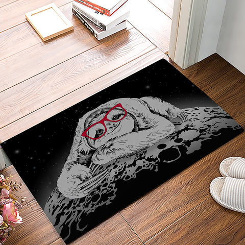 Image of Moon Lazy Sloth Door Mat - Sloth Gift shop