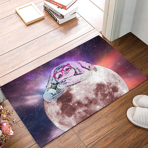 Image of Starry Sloth Sky Door Mat - Sloth Gift shop