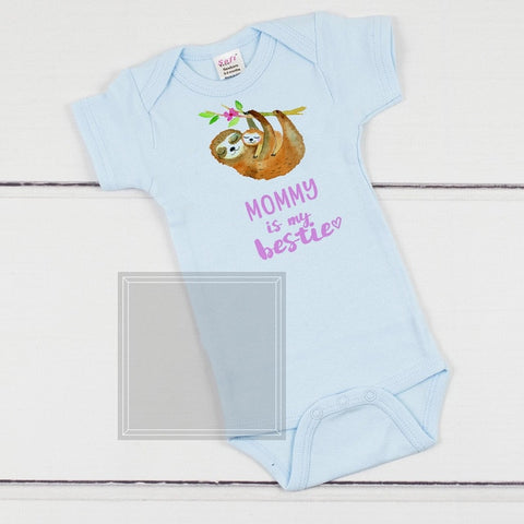 Image of Mommy Sloth is Bestie Bodysuit - Sloth Gift shop