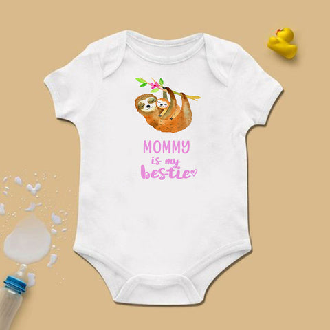 Mommy Sloth is Bestie Bodysuit - Sloth Gift shop