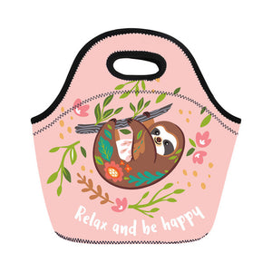 Relax and Sloth Happy Lunch Bag - Sloth Gift shop