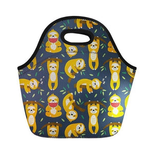 Yellow Sloth Lunch Bag - Sloth Gift shop