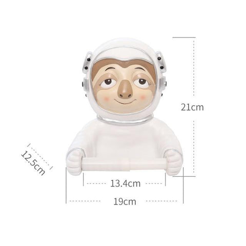 Astronaut Sloth Toilet Paper Holder