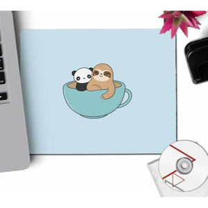 Cup of Sloth Mouse Pad - Sloth Gift shop
