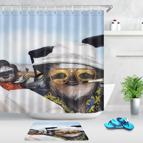 Image of Summer Sloth Shower Curtain