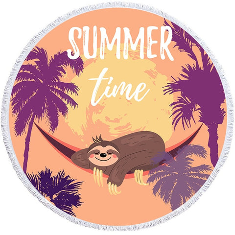 Summer Time Sloth Rug / Towel