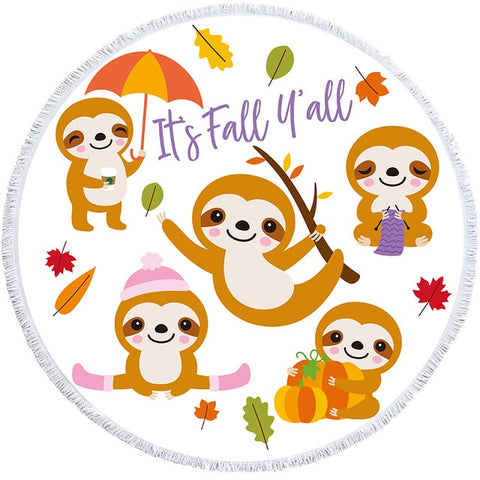 It's Fall Sloth Rug / Towel