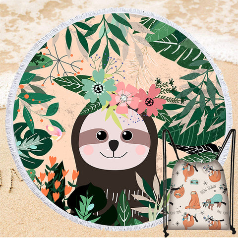 Aloha Sloth Rug / Towel - Sloth Gift shop