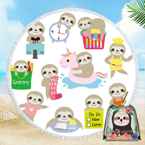 Busy Sloth Rug / Towel