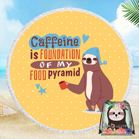 Food Sloth Pyramid Rug / Towel