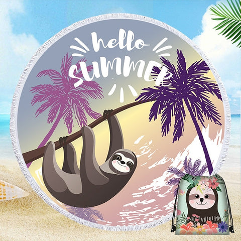 Summer Sloth Beach Towel