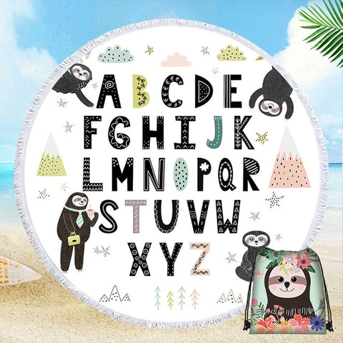 Alphabet Sloth Rug / Towel