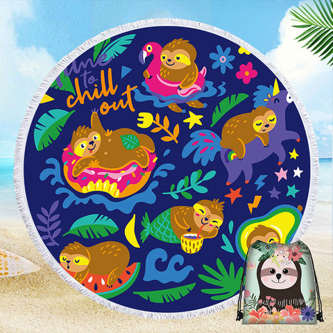 Chill Sloth Out Rug / Towel