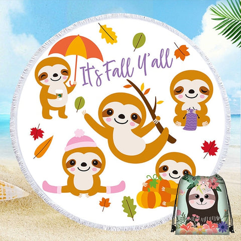 Fall Sloth Rug / Towel