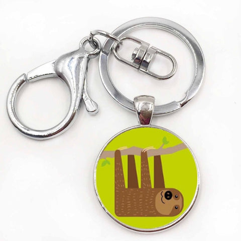 Hold On Sloth Keyring - Sloth Gift shop