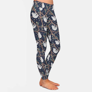 Branches Sloth Leggings - Sloth Gift shop