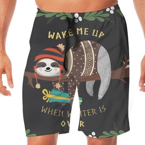 Wake Me Up Sloth Boardshort