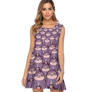 Heads Sloth Dress - Sloth Gift shop