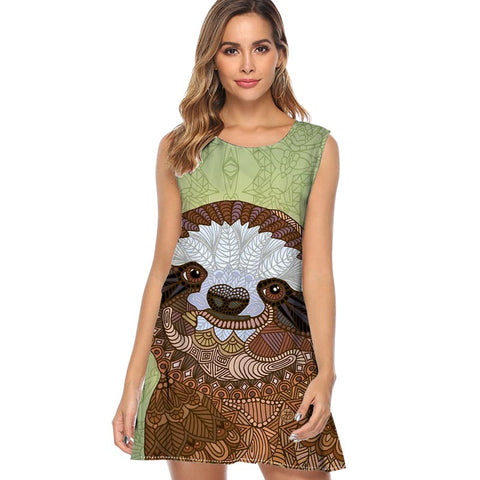 Aztec Face Sloth Dress - Sloth Gift shop