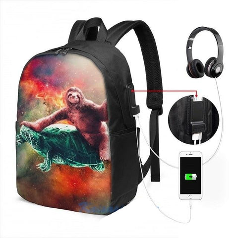 Image of Space Sloth Travel Backpack - Sloth Gift shop