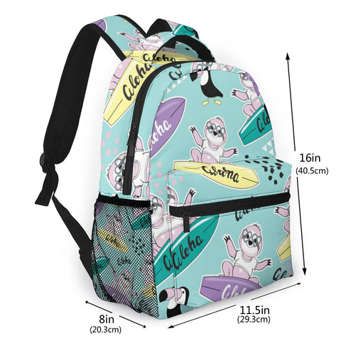 Image of Surfboard Sloth Travel Backpack