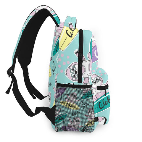 Surfboard Sloth Travel Backpack - Sloth Gift shop