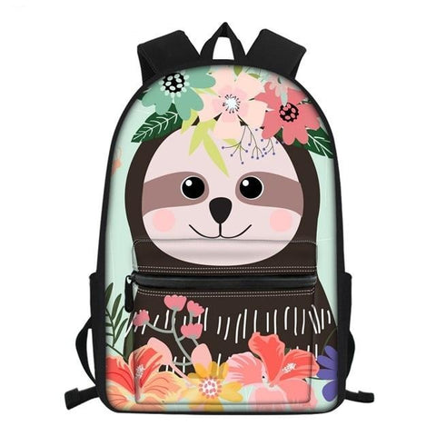 Image of Tropical Sloth Summer Travel Backpack