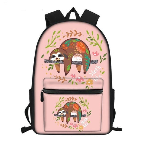 Lady in Sloth Travel Backpack