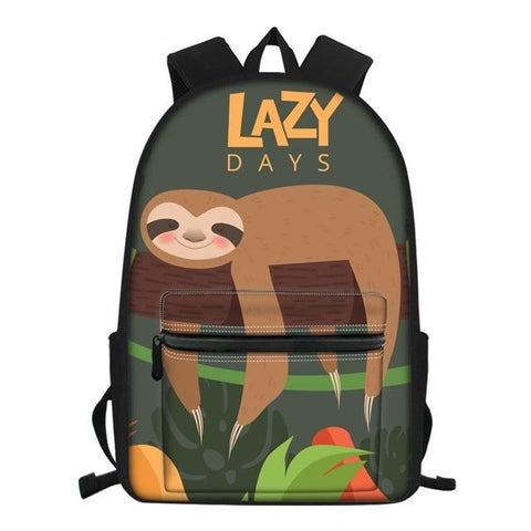 Lazy Sloth Days Travel Backpack