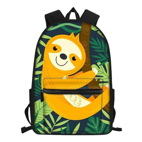 Image of Yellowish Sloth Travel Backpack