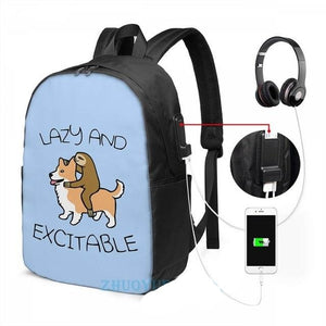 Lazy and Excitable Sloth Travel Backpack - Sloth Gift shop