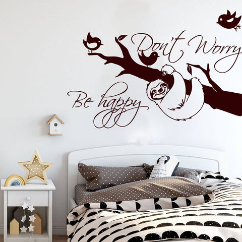 Sloth Do Not Worry Wall Sticker - Sloth Gift shop
