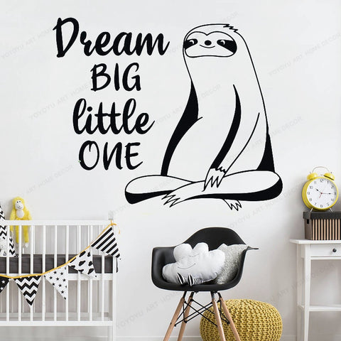Image of Dream Sloth Big Wall Sticker - Sloth Gift shop