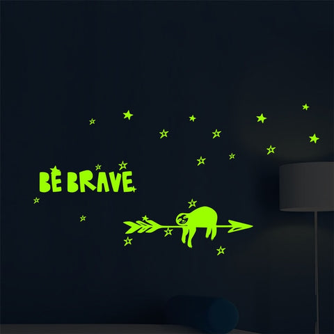 Sloth Glow Wall Sticker - Sloth Gift shop