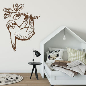 One Hand Sloth Wall Sticker - Sloth Gift shop