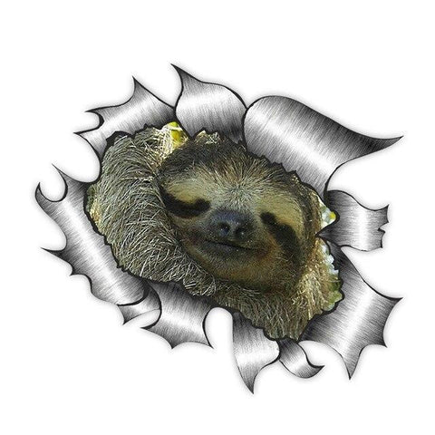 Sloth Torn Sticker - Sloth Gift shop