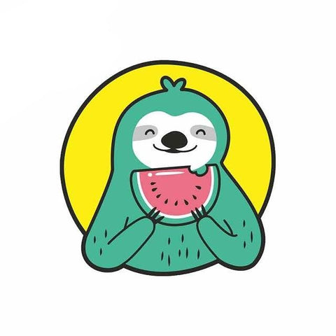 Watermelon Sloth Sticker - Sloth Gift shop