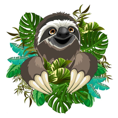Funny Sloth Face Sticker - Sloth Gift shop